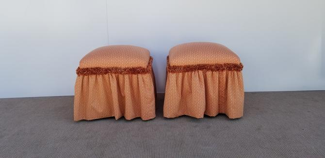 Vintage Upholstered  Stools A Pair . by MIAMIVINTAGEDECOR