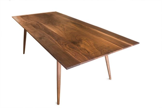 Mid Century Modern Design Walnut Dining Table by MathesonWoodwork