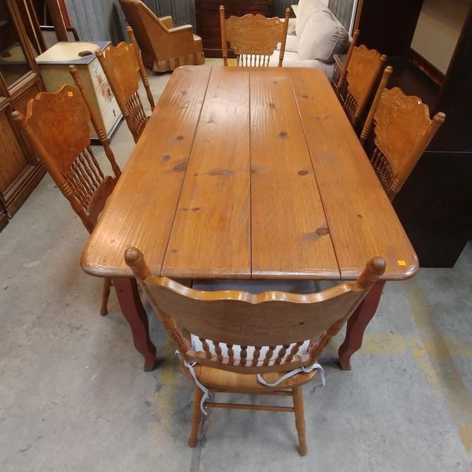 Dining Room Set with Carved Chairs