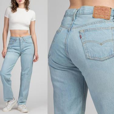 "Vintage Levi's 501 Jeans - 30"", Men's Small, Women's Medium | 80s 90s Unisex Denim Straight Leg High Waist Boyfriend Jeans by FlyingAppleVintage"