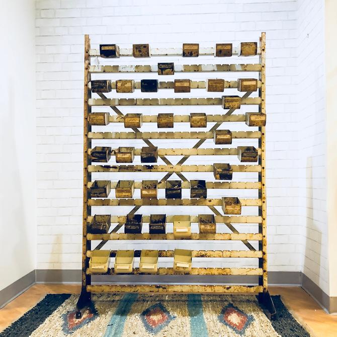 Vintage Metal Hardware Sorter | Bins | Organize | Craft Supplies | Cubby | Store Display | Garage | Guy | Mantique | Industrial Chic by PiccadillyPrairie