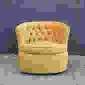 Vintage Yellow Velvet Swivel Chair