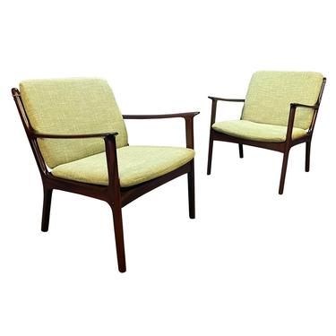 """Pair of Vintage Danish Mid Century Modern Mahogany Lounge Chair """"PJ112"""" by Ole Wanscher by AymerickModern"""