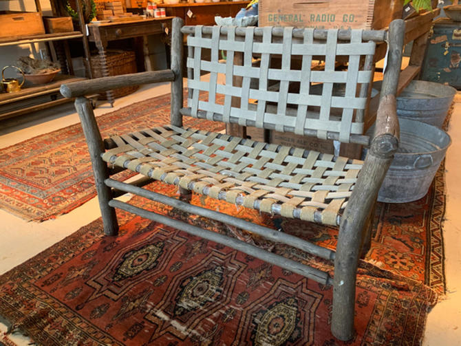 Rustic bench, $175.