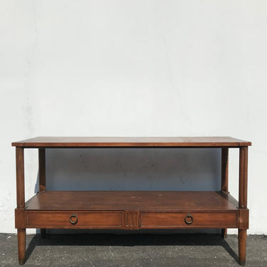 Traditional Console Sofa Wood Table Tv Stand Baker Furniture Media Stand Buffet Sideboard Chinoiserie Storage Boho Chic CUSTOM PAINT AVAIL by DejaVuDecors