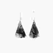 Moss Agate Fan Earrings