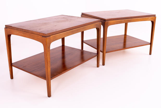 Paul McCobb Style Lane Rhythm Side End Tables - Pair - mcm by ModernHill