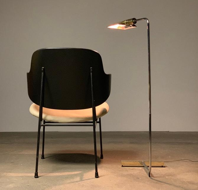 Cantilevered Chrome + Brass Cedric Hartman Reading Lamp by midcenTree