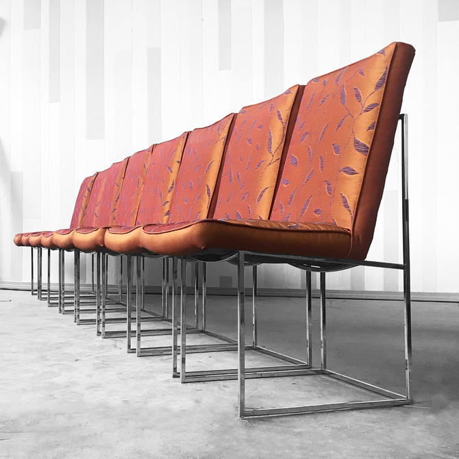 8 Milo Baughman dining Chairs for Thayer Coggin