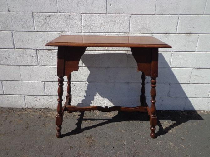 Wood Table Accent Side End Victorian Traditional Carved Nightstand Bedside Entry Way Vintage Mahogany Neoclassical Antique French France by DejaVuDecors