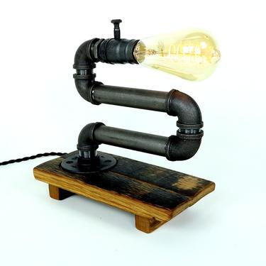 Bourbon Barrel Edison Light - Desk Lamp - Industrial Lighting by HungarianWorkshop