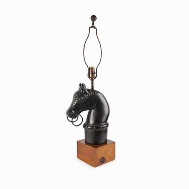 Frederick Cooper Horse Head Lamp Table by VintageInquisitor