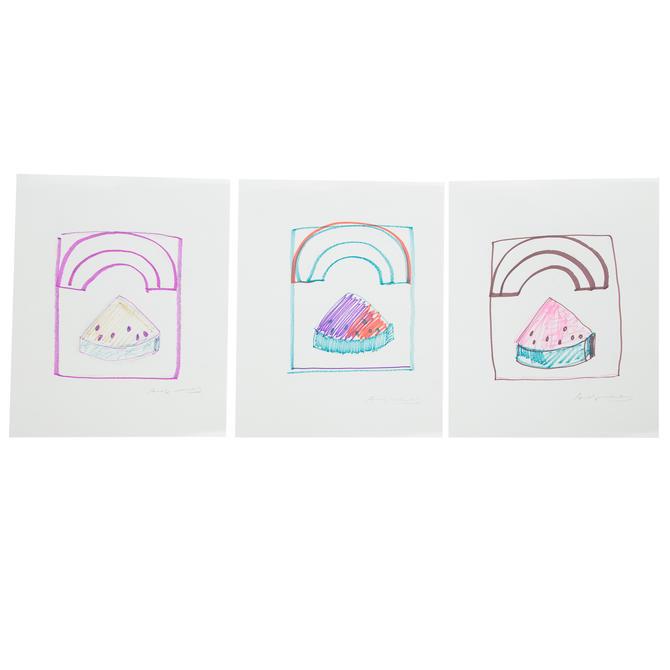 Andy Warhol. Pr. Watermelon Rainbow Purple