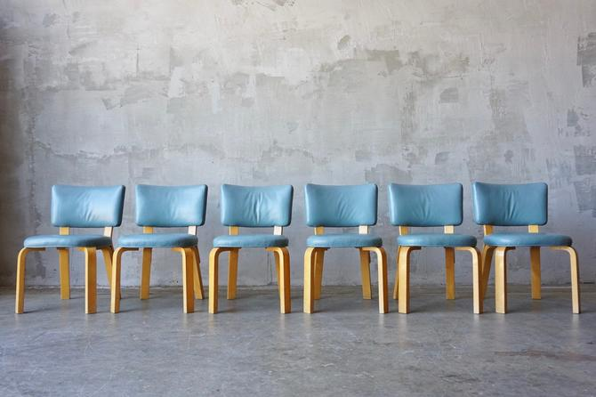 Set of 6 Alvar Aalto Leather no. 62 Chairs by FandFVintage