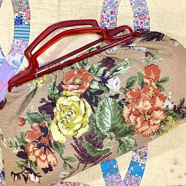 Giant Floral Fabric Handbag