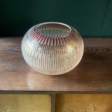 1980s Vintage Studio Art Glass by William K. LeQuier Vase Bowl Table Centerpiece Mid-Century Modernist 80s Post-Modern by BrainWashington