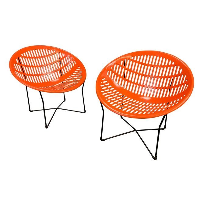 """Pair of Vintage Mid Century Modern """"Solair"""" Patio Lounge Chairs by Fabiano & Panzini by AymerickModern"""