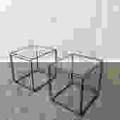 Pair of Modernist End tables by Max Sauze