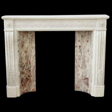 Antique Victorian White Carrara Marble Mantel
