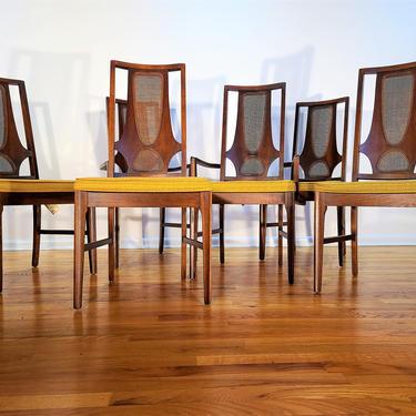 Mid Century Broyhill Brasilia Set of Six Dining Chairs by ProRefineFurnishings