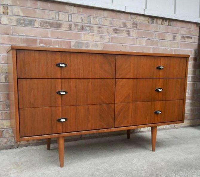 Free Shipping Within US - Vintage Mid Century Modern Bed room Dresser or Credenza by BigWhaleConsignment