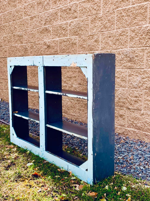 Large Wood Shelf | Open Wood Shelf | Painted Wood Shelf | Vintage Shelving | Antique Shelving | Handmade Shelving | Farmhouse Shelf | Curio by PiccadillyPrairie