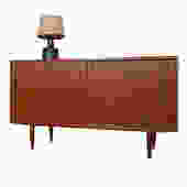 Condo-Sized (54″) Danish Teak Media Cabinet \/ Sideboard
