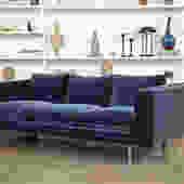 Milo Baughman Velvet Sofa for Thayer Coggin