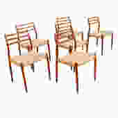 Set of 6 Danish Teak Niels Moller #78 Dining Chairs