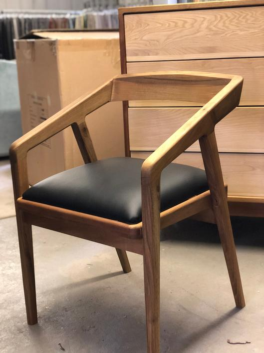 Mid Century Modern Chair, Desk Chair, Dining Chairs, Leather Chairs, Mid Century Chair by MOKUArtisanFurniture