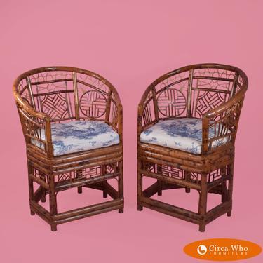 Pair of Brighton Style Throne Chairs