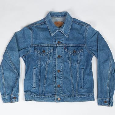 Vintage 80s Levi's Denim Jacket - 40R  | Unisex Medium Wash Jean Trucker Jacket by FlyingAppleVintage