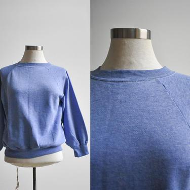 Vintage Heather Blue Raglan Sweatshirt by milkandice