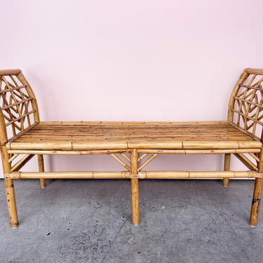 Island Style Bamboo Bench