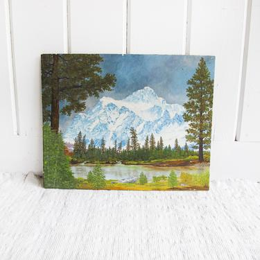 Beautiful Vintage Mountain Painting - Painted in 1962 by L. R. Pratt by PortlandRevibe