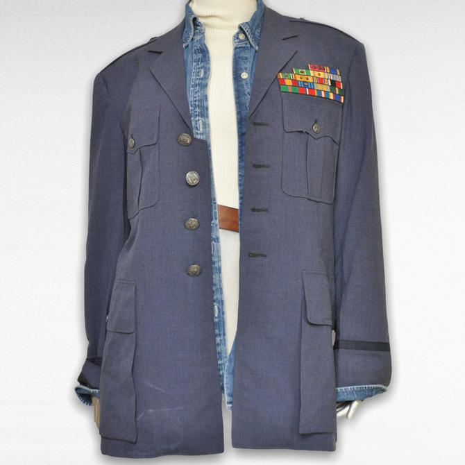 Vintage Military Dress Uniform with Metals US Army 2 Piece Suit by TheUnapologeticSoul