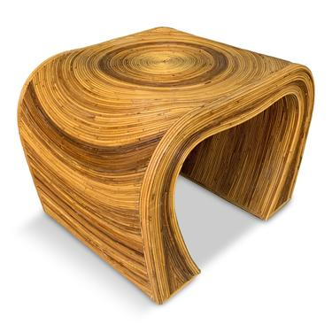 Pencil Reed Modern Side Tables The Style of Gabriella Crespi Mid Century
