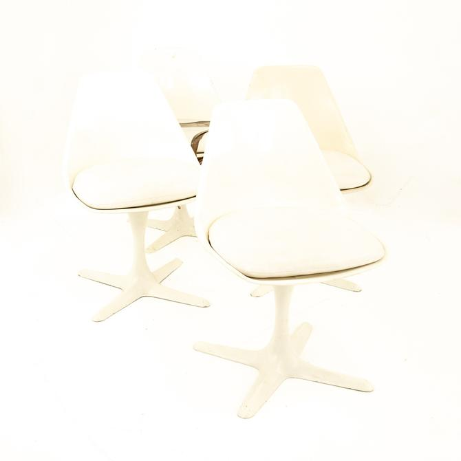 Burke Inc Mid Century Tulip Base Lounge Chairs - Set of  4 - mcm by ModernHill