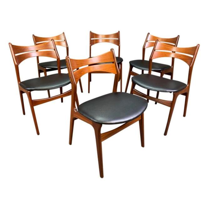 Set of Six Vintage Mid Century Danish Modern Teak Dining Chairs Model #310 by Erik Buck by AymerickModern