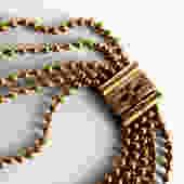 Antique Victorian Brass Bead Ball Necklace by LegendaryBeast