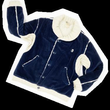 Courreges corduroy coat with fuzzy linig