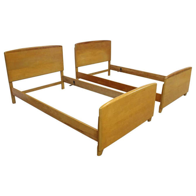 Pair of Mid-Century Modern Heywood Wakefield Encore Twin Size Bed Frames by AnnexMarketplace