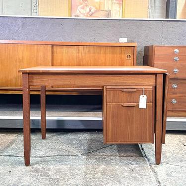 Danish Teak Drop Leaf Desk