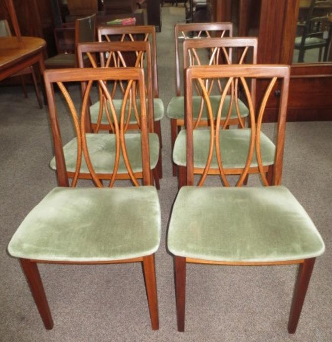 Q74  Set of Six Rosewood Dining Chairs. GPLAN