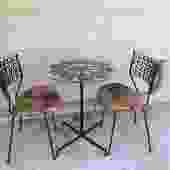 Arthur Umanof Indoor Outdoor Bistro Dining Set