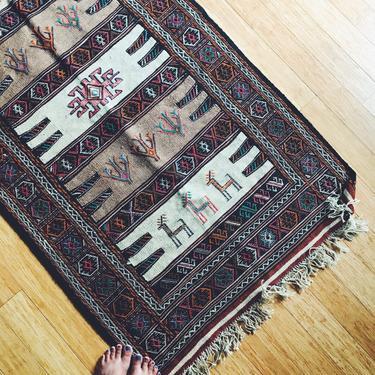 Sindokht-Wool woven Persian Kilim - Handmade (Free shipping to USA) by KaashiFurniture