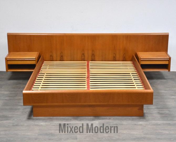 Danish Modern Queen Teak Platform Bed by mixedmodern1