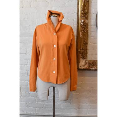 1990's | Romeo Gigli | Mustard Orange Button Down by LadyofLizard