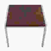 Rosewood & Chrome Low Compact Side Accent Table
