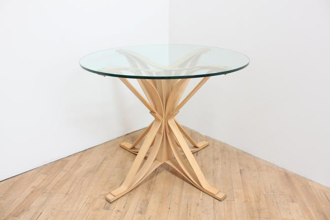 1992 Original Frank Gehry Face Off Table for Knoll First Production- Maple and Glass by 330ModernAntique